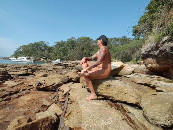 On the rocks at Cobblers Beach